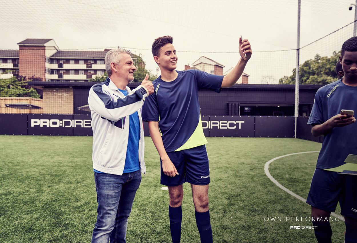 Pro :Direct Academy players meet Italy Legend Roberto Baggio