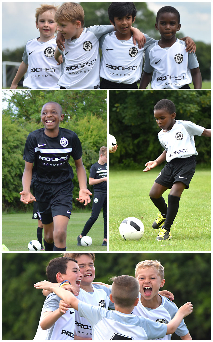 players at Pro:Direct Academy London Newham