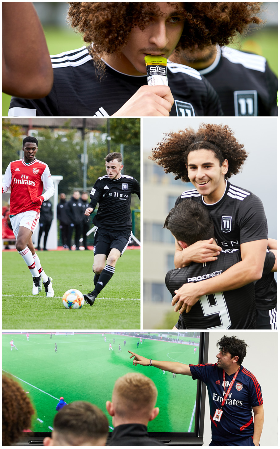 Pro:Direct Eleven players take on Arsenal