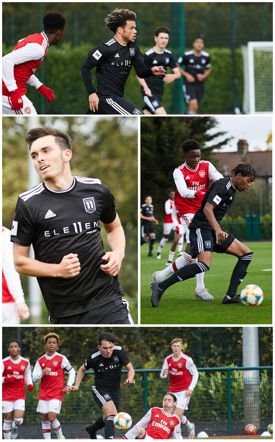 Pro:Direct Eleven players in action at Arsenal
